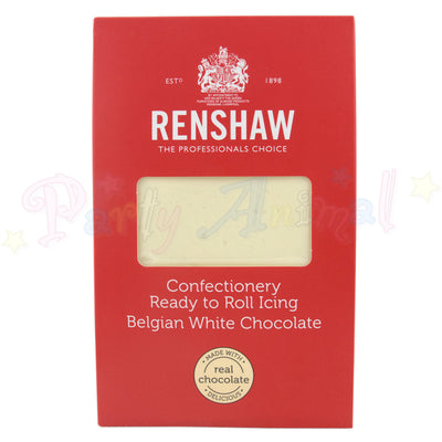Belgian white chocolate, ready to roll icing, Renshaw, 1kg, image