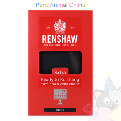 Renshaw, black extra, ready to roll icing, 1kg, partyanimalonline, image