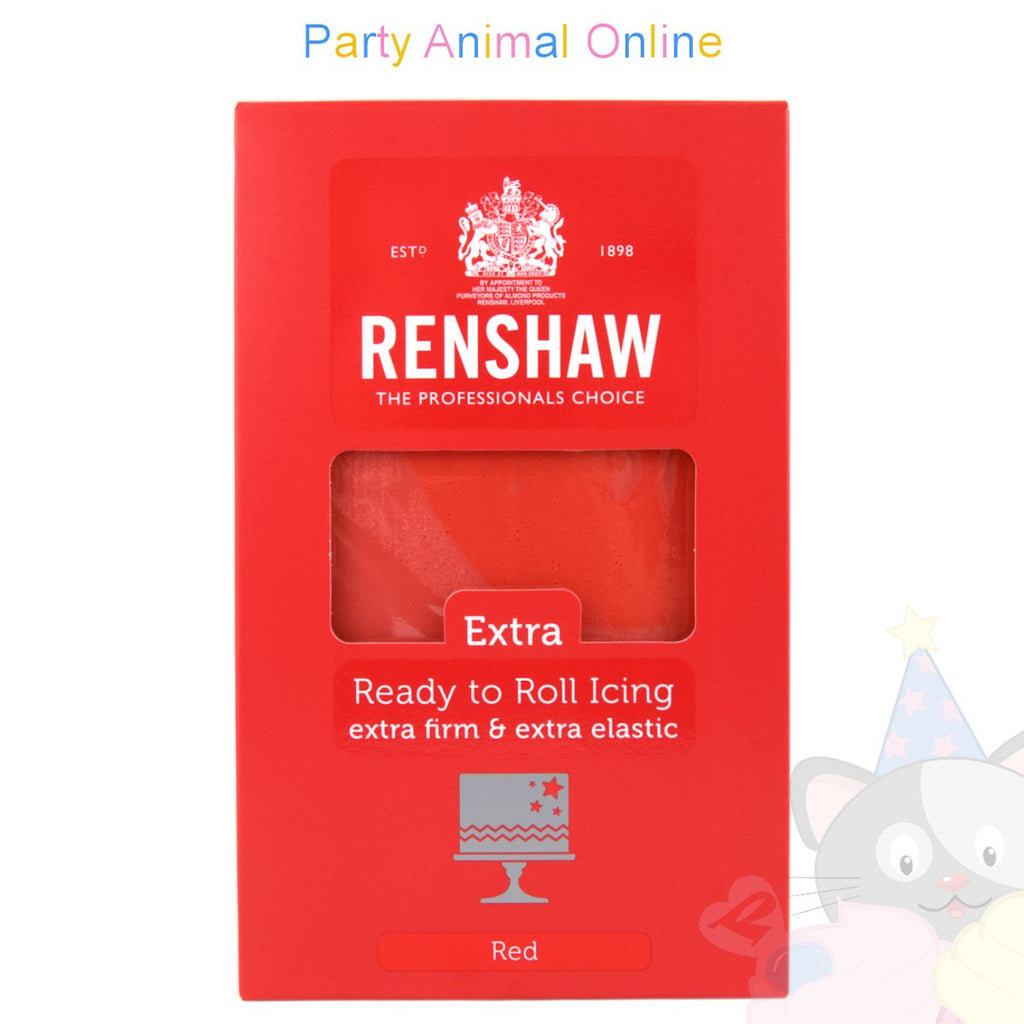 Renshaw Ready-to-Roll Sugarpaste Icing - Red Extra - 1Kg