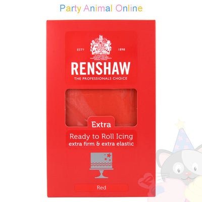 Renshaw Ready-to-Roll Sugarpaste Icing - Red Extra - 1Kg, partyanimalonline, image