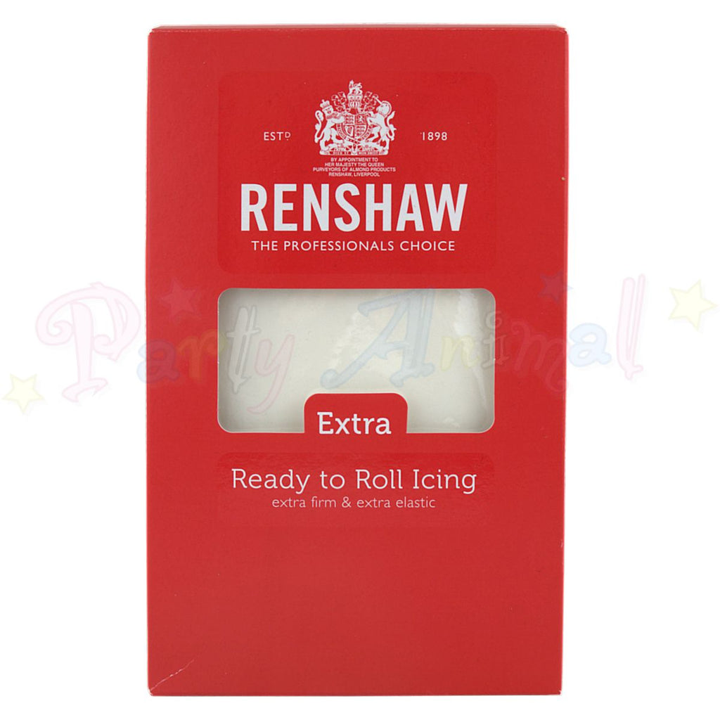 Renshaws Ready-to-Roll Sugarpaste Icing - White Extra - 1Kg