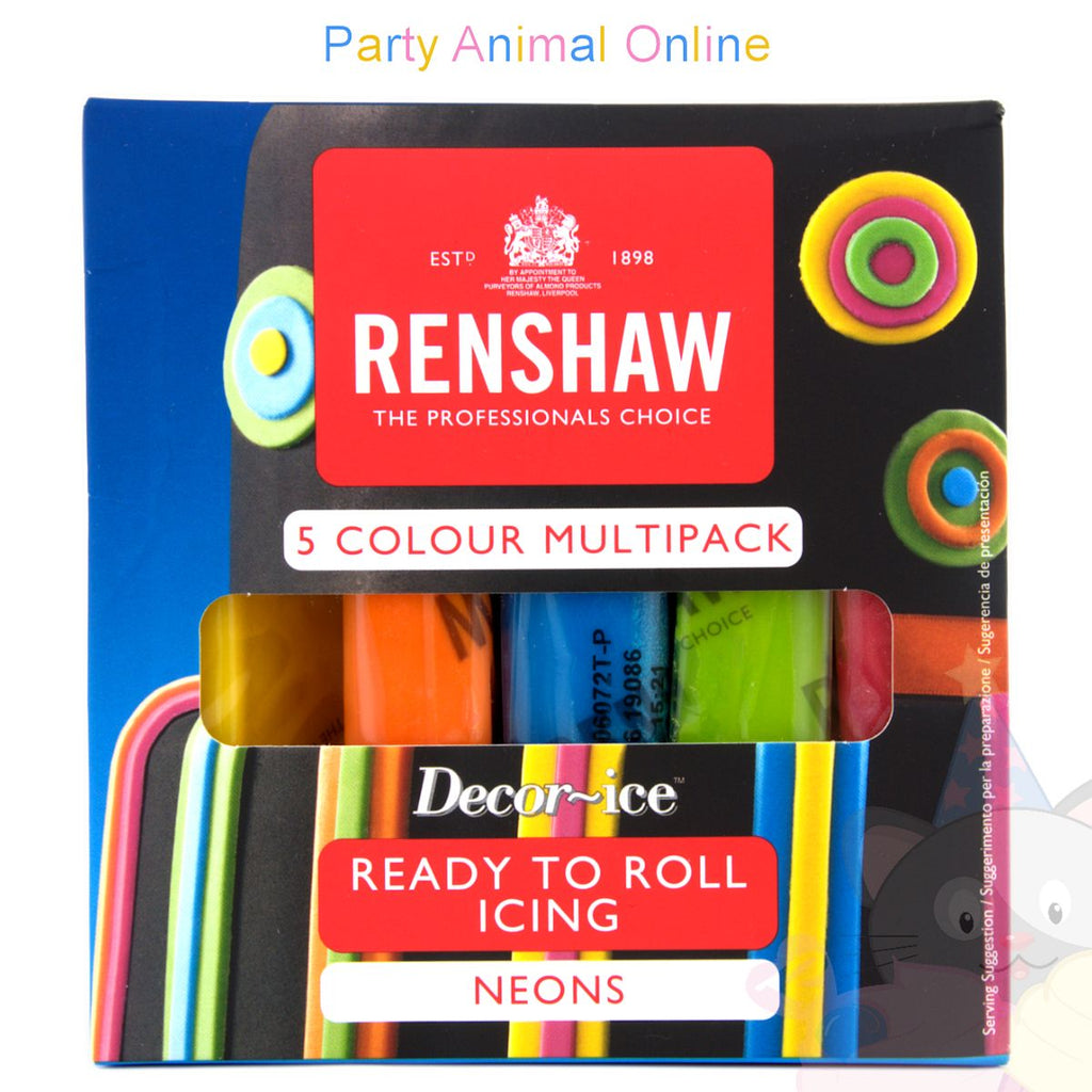 Renshaws Decor-Ice Ready-to-Roll Icing - Multipack - Neon