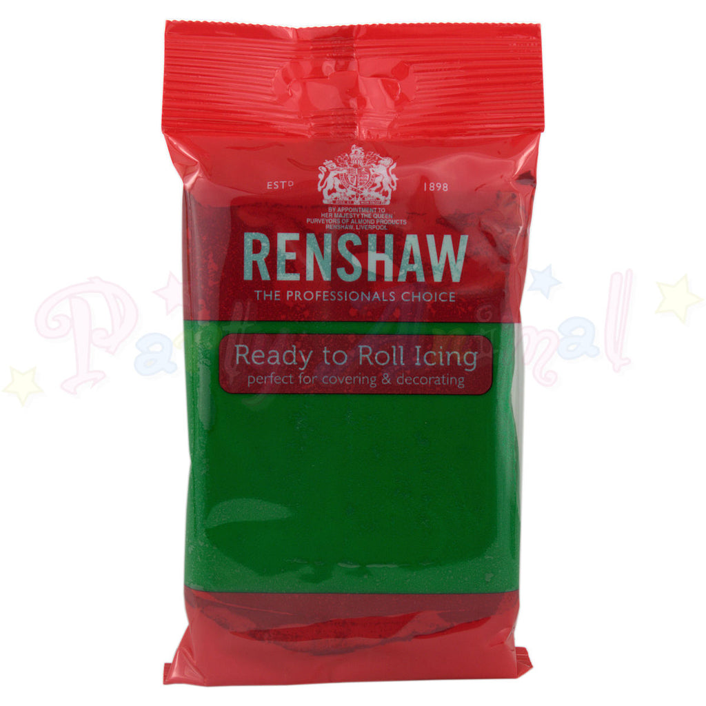 Renshaws Decor-Ice Ready-to-Roll Sugarpaste Icing (Regalice) - Emerald Green