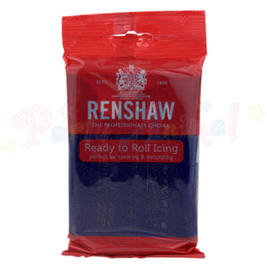 Renshaws Decor-Ice Ready-to-Roll Sugarpaste Icing (Regalice) - Navy Blue