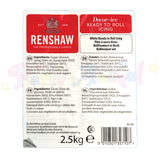Renshaws Ready-to-Roll Sugarpaste Icing (Regalice) RegalIce - White - 2.5Kg