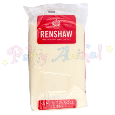 Renshaws Decor-Ice Ready-to-Roll Sugarpaste Icing (Regalice) - Celebration Cream - 1Kg