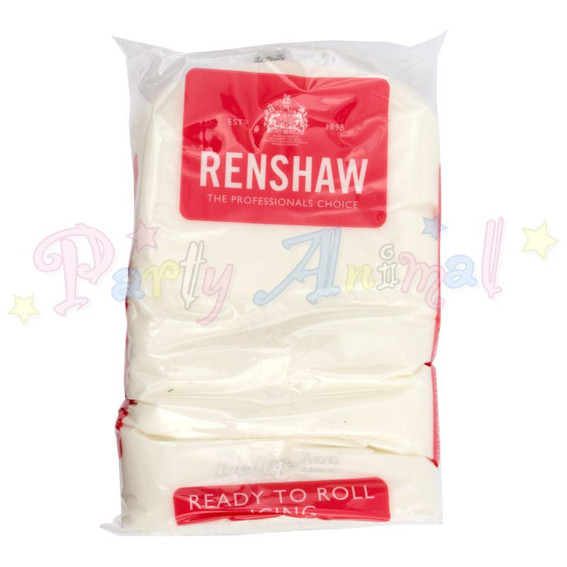 Renshaws Decor-Ice Ready-to-Roll Sugarpaste Icing (Regalice) RegalIce - White - 1Kg
