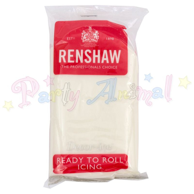 Renshaws Decor-Ice Ready-to-Roll Sugarpaste Icing (Regalice) - White -500g