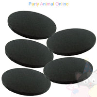 ROUND Drum Cake Board - Black Foil - Pack of 5 - Choose Size