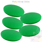 ROUND Drum Cake Board - Green Foil - Pack of 5 - Choose Size