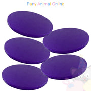 ROUND Drum Cake Board - Purple Foil - Pack of 5 - Choose Size