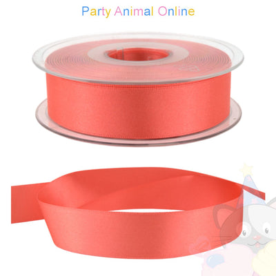 Ribbon 25mm Wide - Colour 22 (Coral Pink)