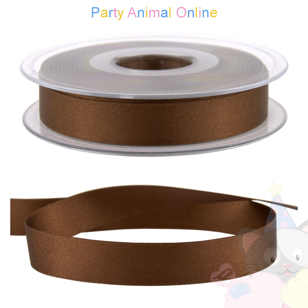 Ribbon 15mm Wide - Colour 25 (Dark Brown)
