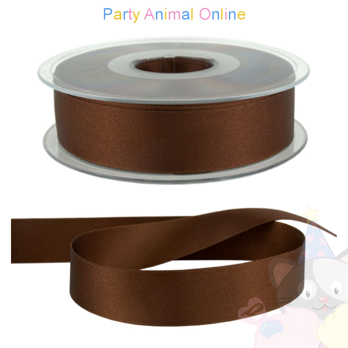Ribbon 25mm Wide - Colour 25 (Dark Brown)