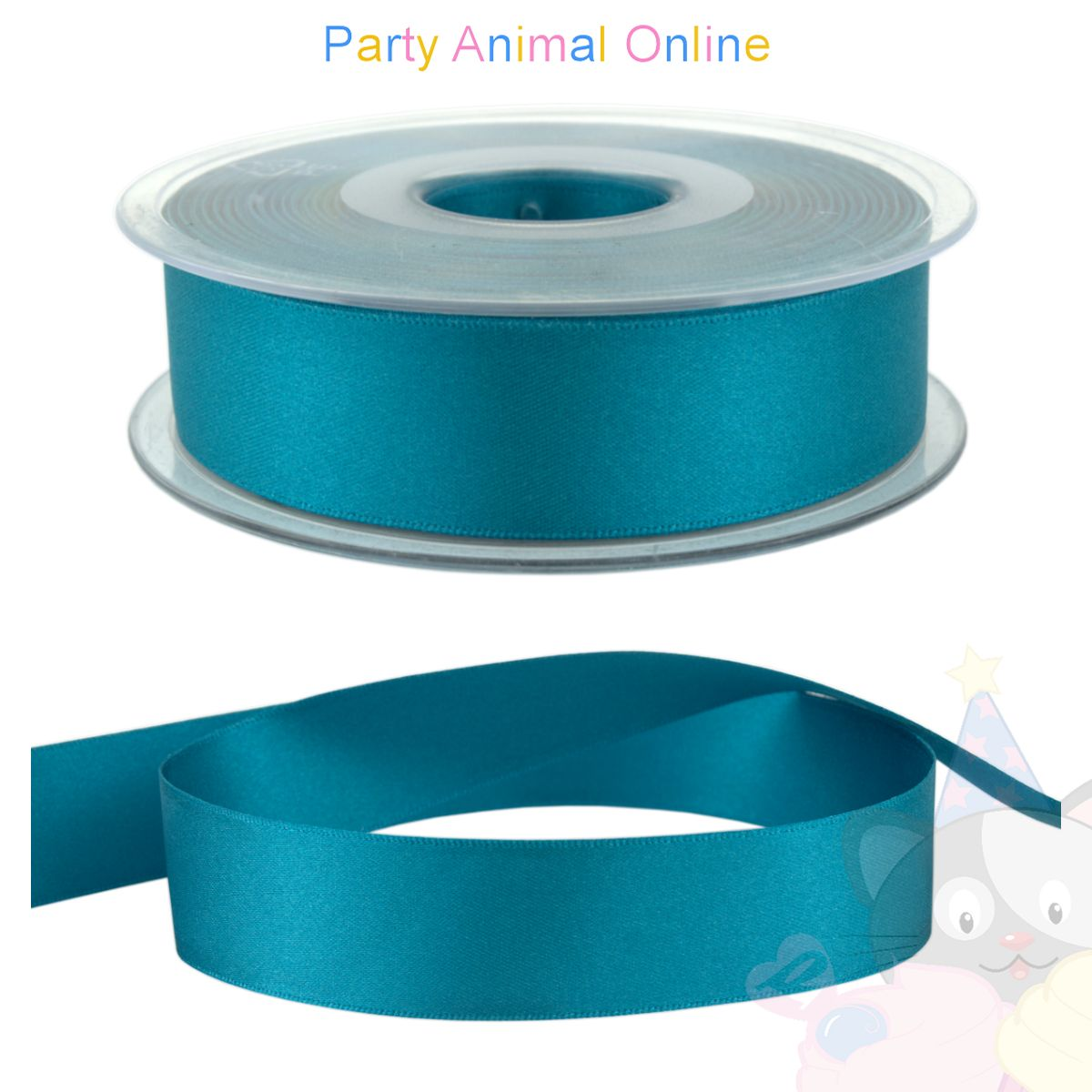 Ribbon 25mm Wide - Colour 673 (Malibu Blue)