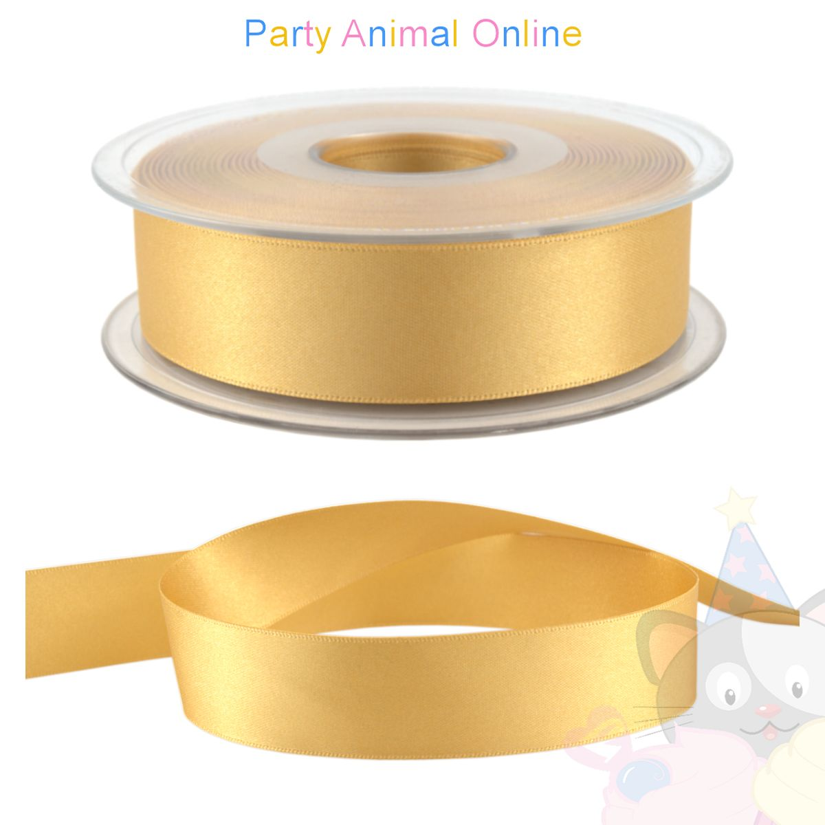Ribbon 25mm Wide - Colour 678 (Honey Gold)