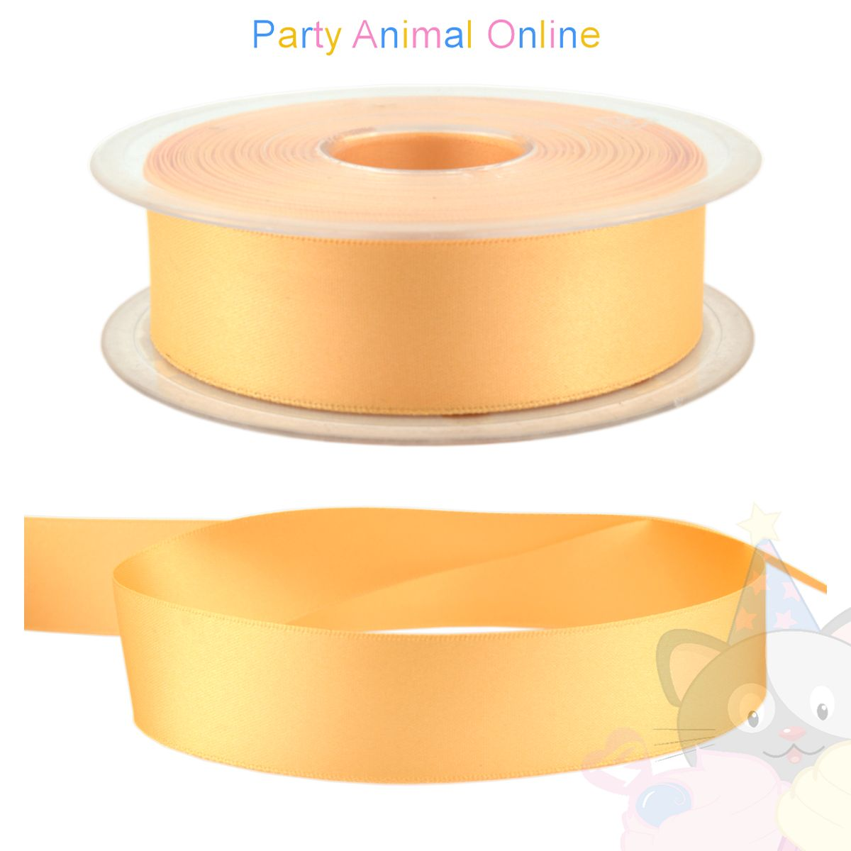 Ribbon 25mm Wide - Colour 6842 (Pineapple Yellow)