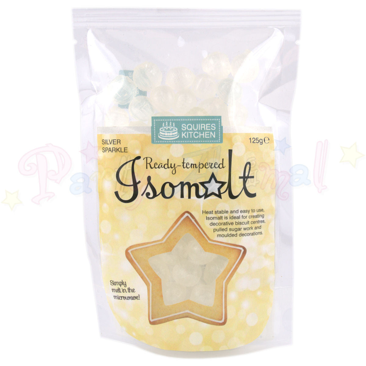 Isomalt Ready Tempered - Silver Sparkle 125g Pack