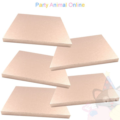 SQUARE Drum Cake Board - Rose Gold Foil - Pack of 5 - Choose Size