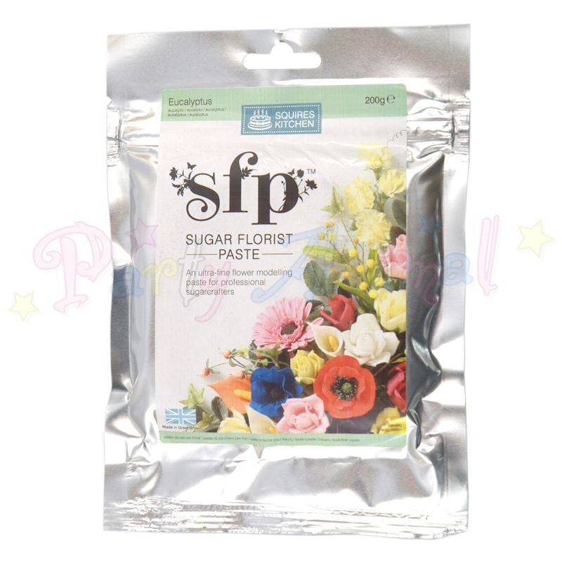 Squires Kitchen Sugar Flower Paste SFP - Eucalyptus Green 100g
