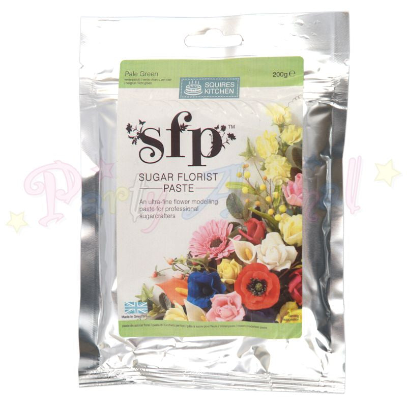 Squires Kitchen Sugar Flower Paste SFP - Pale Green 200g