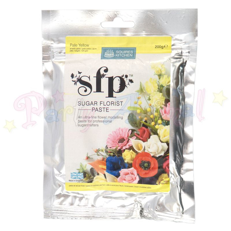 Squires Kitchen Sugar Flower Paste SFP - Pale Yellow 200g
