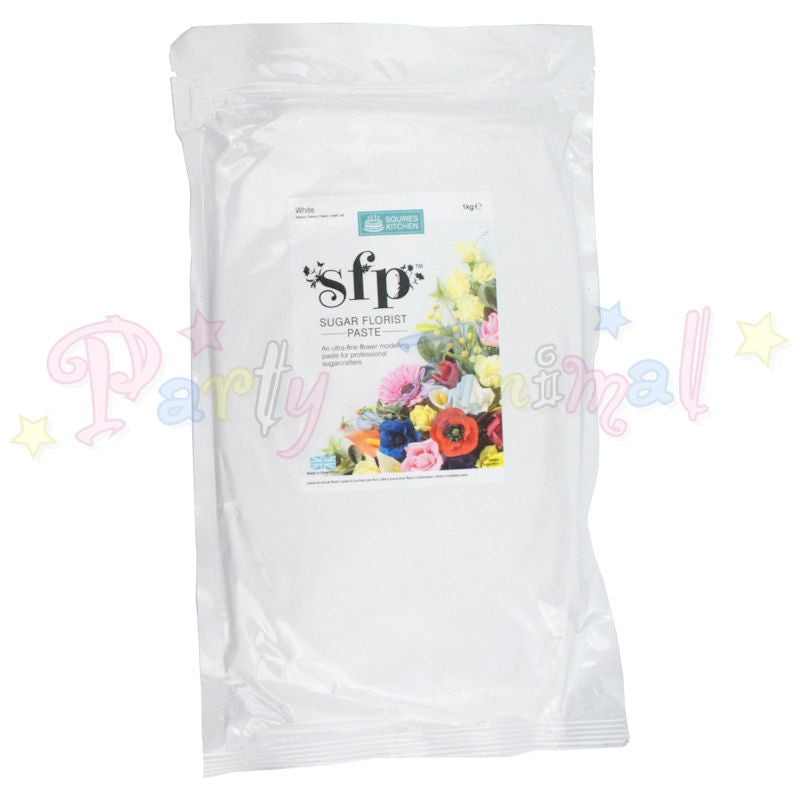 Squires Kitchen Sugar Flower Paste SFP - White 1Kg