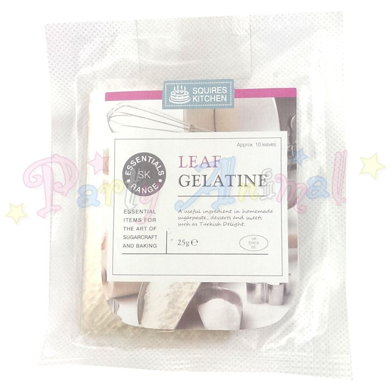 Squires Kitchen Leaf Gelatine - 10 leaves
