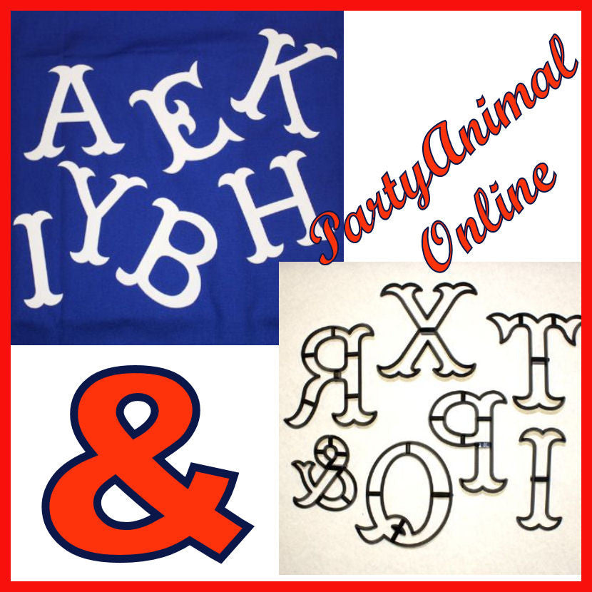 Sugarcaft Patchwork cutters- Extra Large Letters & Ampersand Full Alphabet A Z