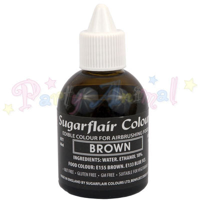 Sugarflair Airbrush Colours for Cake Decoration - Brown