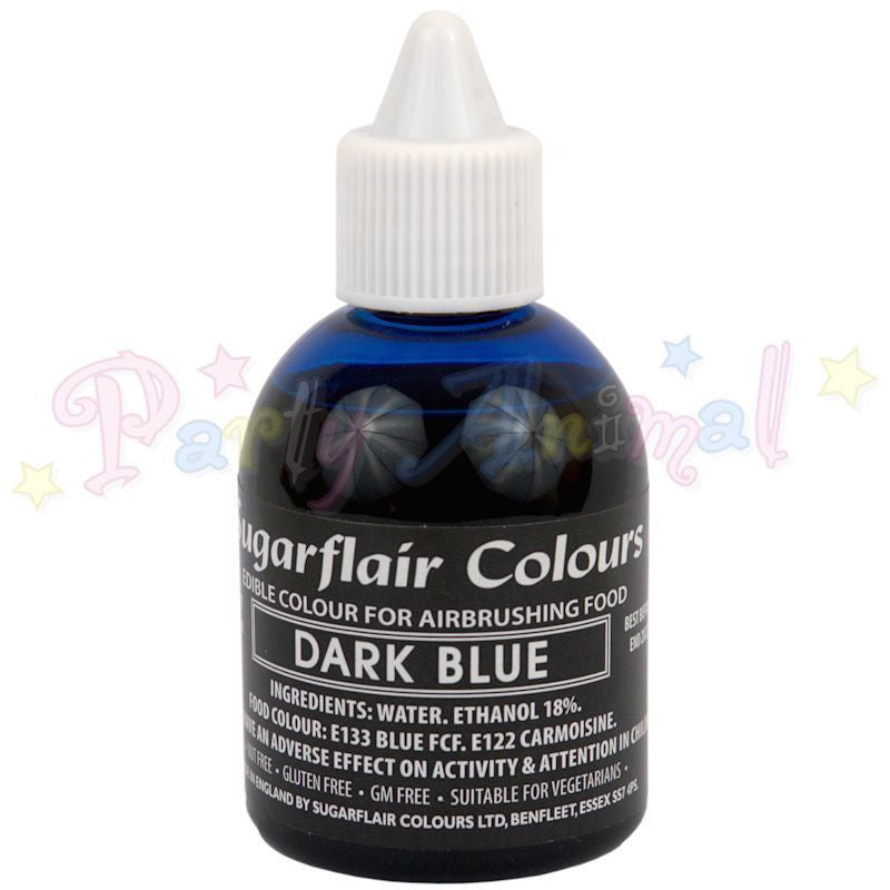 Sugarflair Airbrush Colours for Cake Decoration - Dark Blue