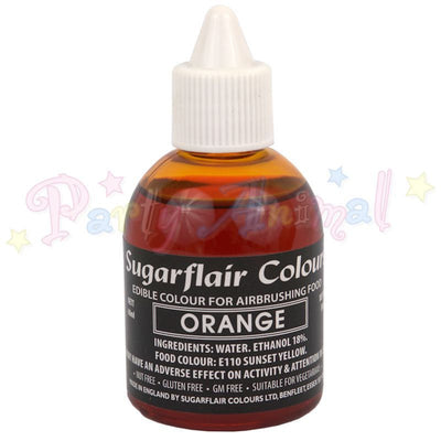 Sugarflair Airbrush Colours for Cake Decoration - Orange