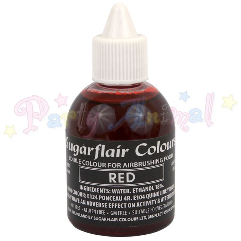 Sugarflair Airbrush Colours for Cake Decoration - Red