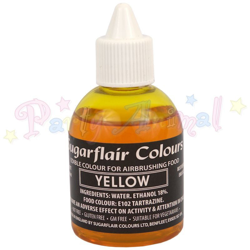 Sugarflair Airbrush Colours for Cake Decoration - Yellow