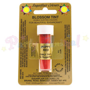 Sugarflair Colours POPPY RED Blossom Tint Dusting Powder