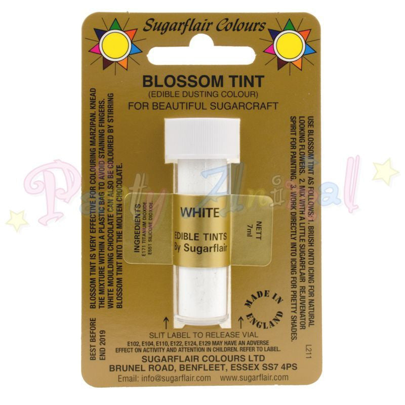 Sugarflair Colours WHITE Blossom Tint Dusting Powder