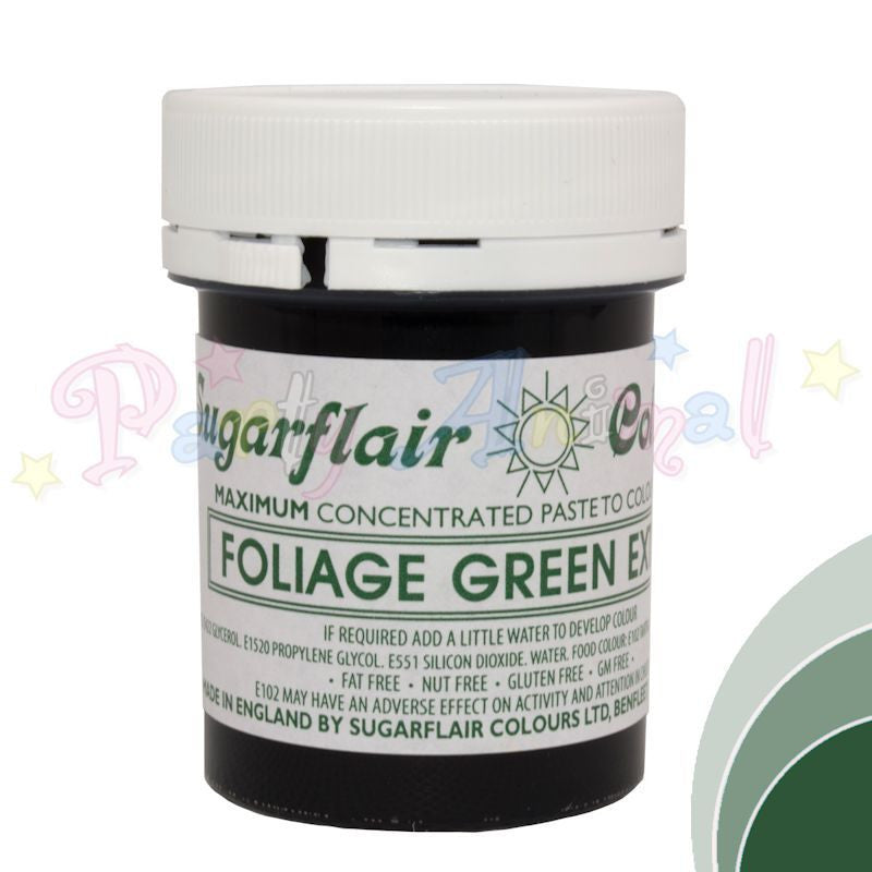 Sugarflair Extra Concentrated Paste Food Colouring - FOLIAGE GREEN EXTRA