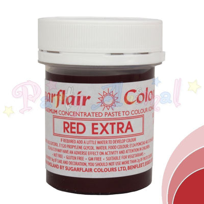 Sugarflair Extra Concentrated Paste Food Colouring Red Extra
