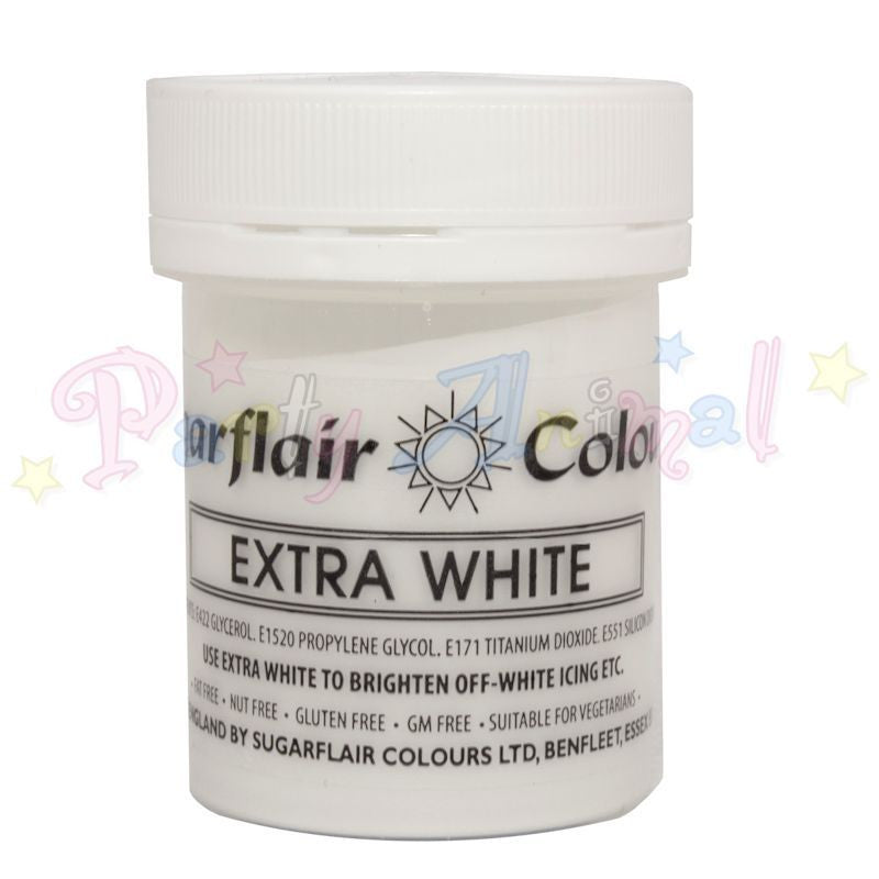 Sugarflair Extra Concentrated Paste Food Colouring - WHITE EXTRA