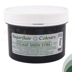 Sugarflair Extra Concentrated Paste - FOLIAGE GREEN - BULK 400g Pot
