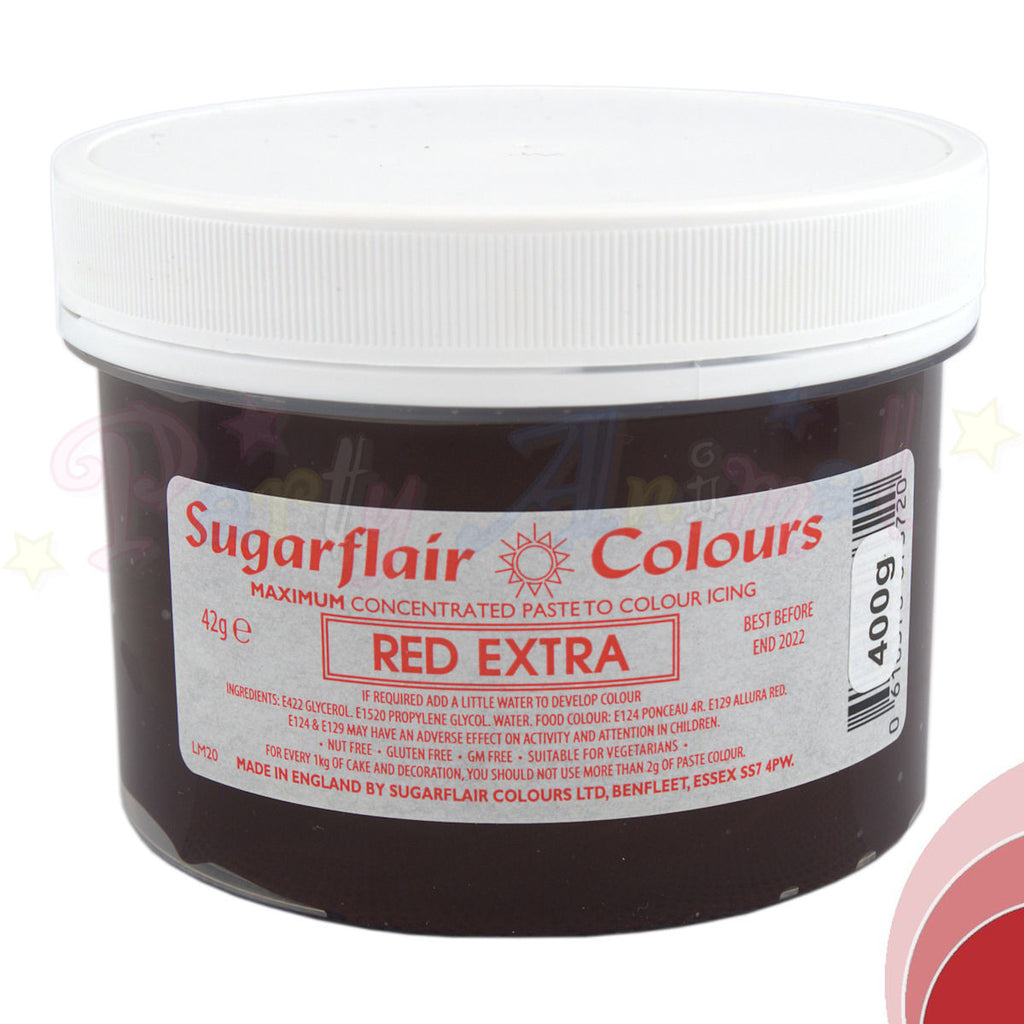 Sugarflair Extra Concentrated Paste - RED - BULK 400g Pot