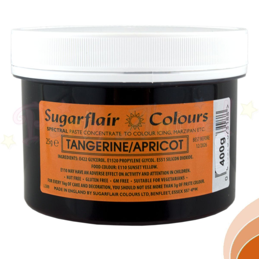 Sugarflair Spectral Paste TANGERINE APRICOT Food Colour - BULK 400g