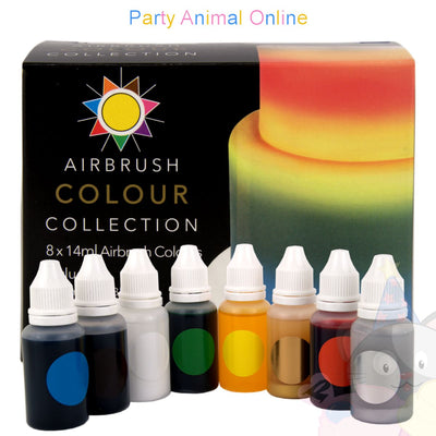 Sugarflair Airbrush Colours Collection for Cake Decoration