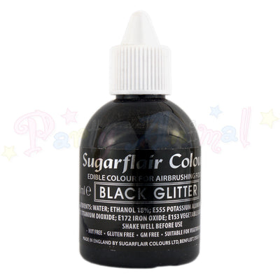 Sugarflair Airbrush Colours for Cake Decoration - Black Glitter