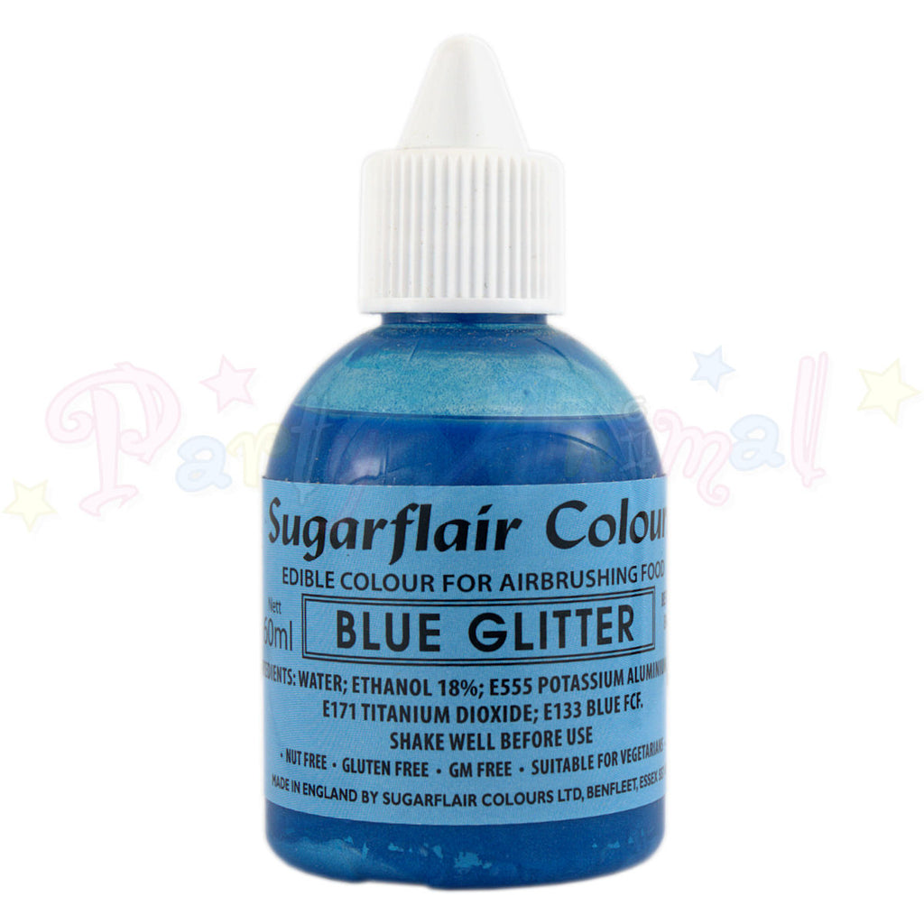 Sugarflair Airbrush Colours for Cake Decoration - Blue Glitter