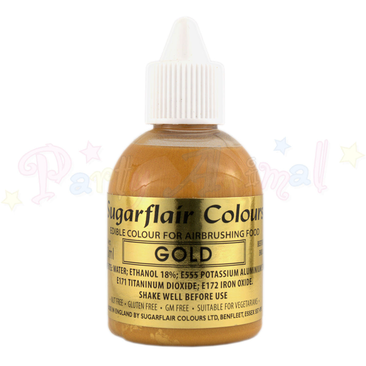 Sugarflair Airbrush Colours for Cake Decoration - Gold