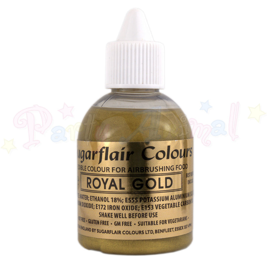 Sugarflair Airbrush Colours for Cake Decoration - Royal Gold
