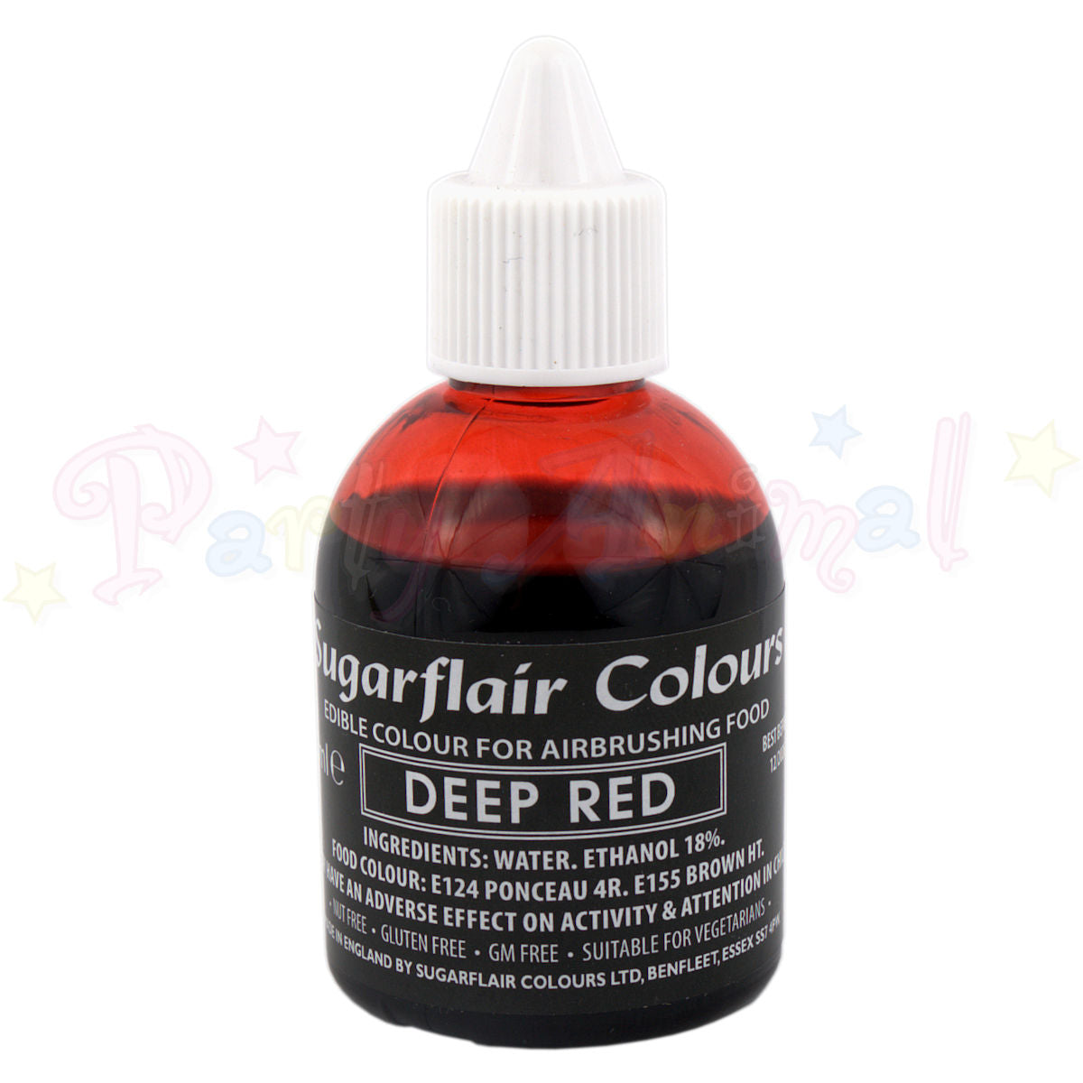 Sugarflair Airbrush Colours for Cake Decoration - Deep Red