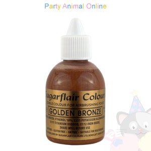 Sugarflair Airbrush Colours for Cake Decoration - Golden Bronze