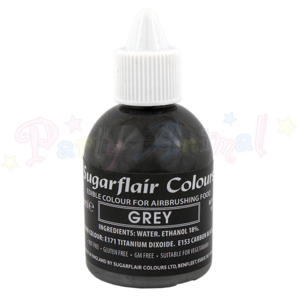 Sugarflair Airbrush Colours for Cake Decoration - Grey